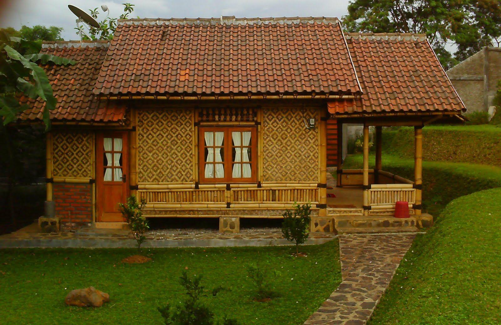 Contoh Desain Rumah Bambu Minimalis Modern Terbaru Rumah Bambu
