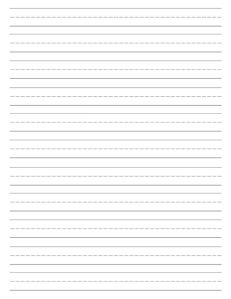 Free Printable Lined Paper Handwriting Paper Template Paper Trail Design Printable Lined Paper Lined Writing Paper Kindergarten Writing Paper