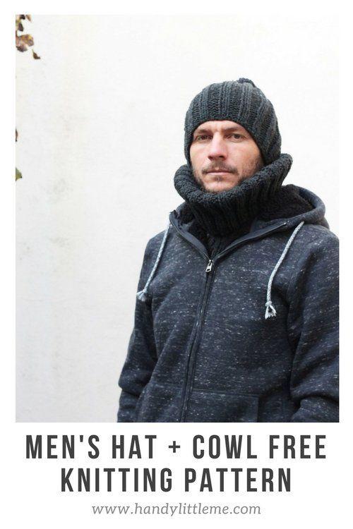 Free Men\'s Hat Knitting Pattern | Stricken und häkeln, Stricken und ...