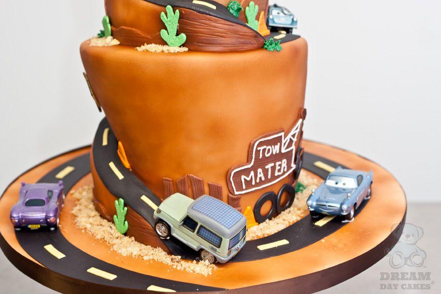 cars birthday cake Kids cakes Pinterest Birthday cakes