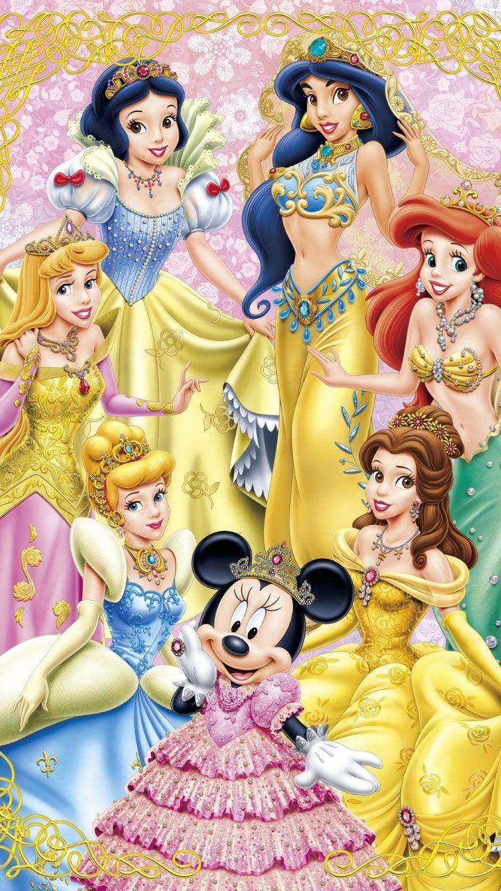 ミニーを含む ディズニー プリンセス イラスト ディズニー