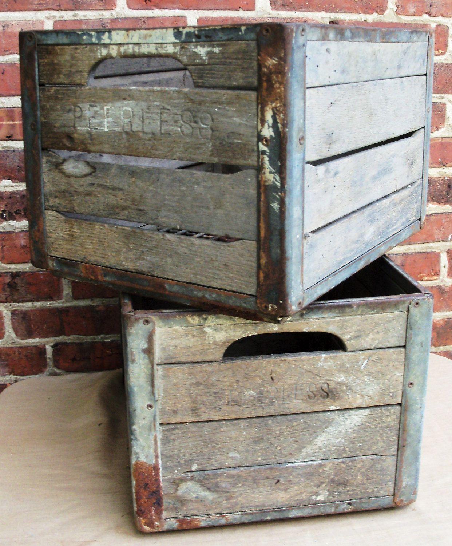 vintage wooden milk crate for bases of centerpieces. Black Bedroom Furniture Sets. Home Design Ideas