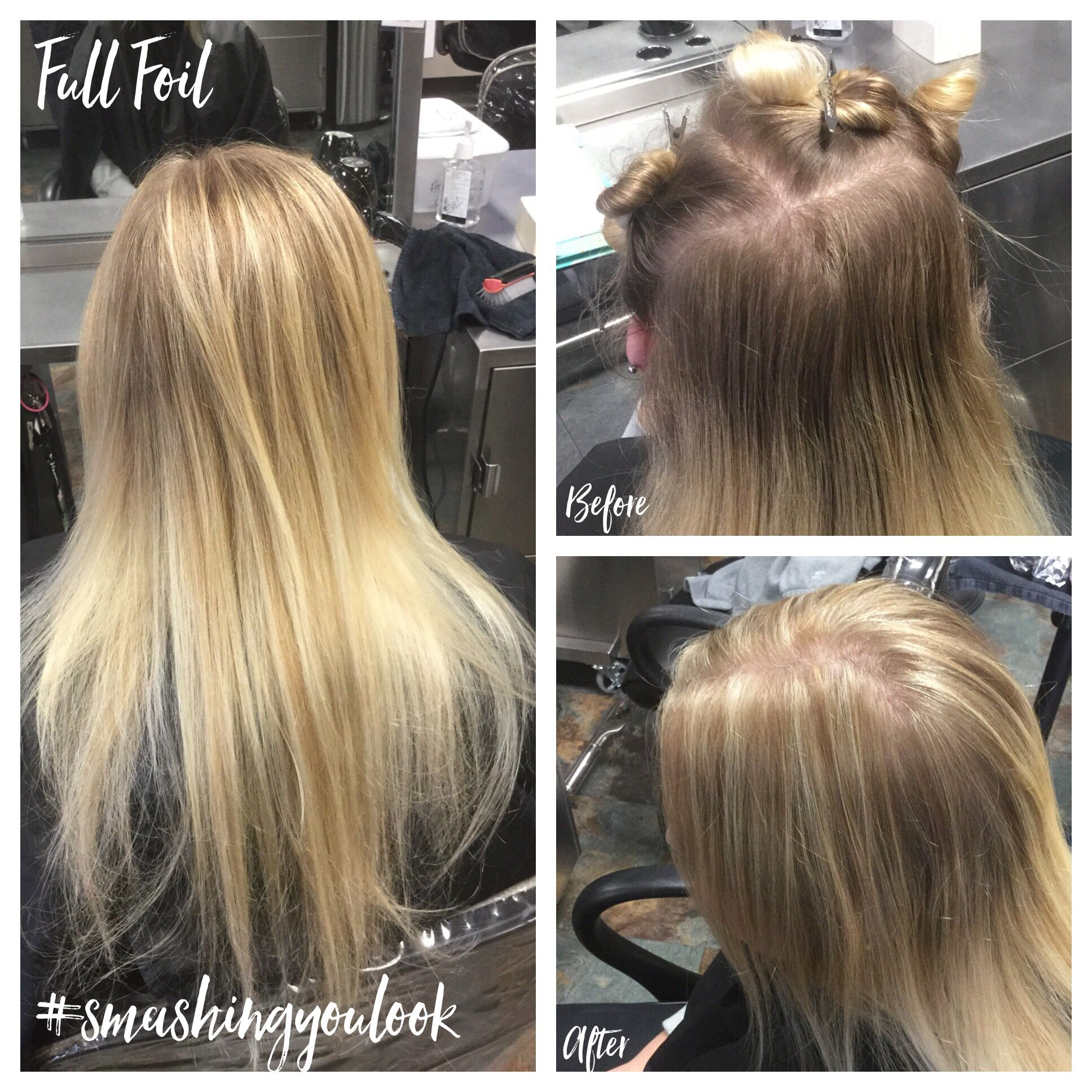 Full Foil Using All Diagonal Partings Wella Blondor 2 1 Using 8 38 For Lowlights 7 7 16 Long Hair Styles Hair Styles Hair Color