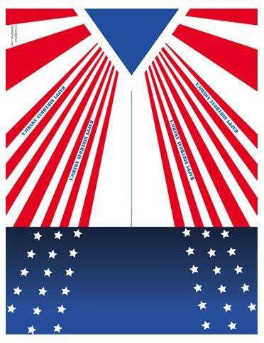 graphic regarding Printable Paper Airplanes called Free of charge Printable U.S.A. Paper Plane (Printable 4th of July