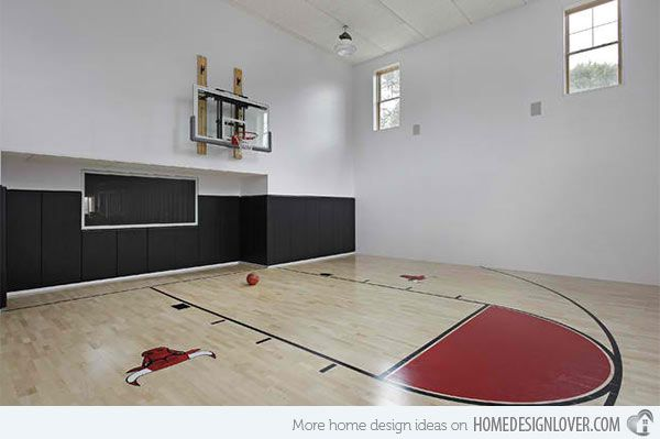 15 Ideas For Indoor Home Basketball Courts Home Design Lover Home Basketball Court Indoor Basketball Court Indoor Basketball