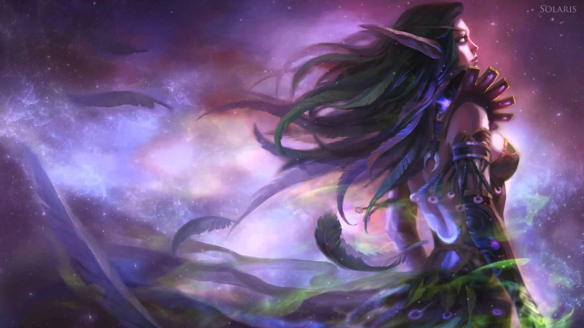 Night Elf Wallpaper Google Search World Of Warcraft Night Elf Warcraft Art
