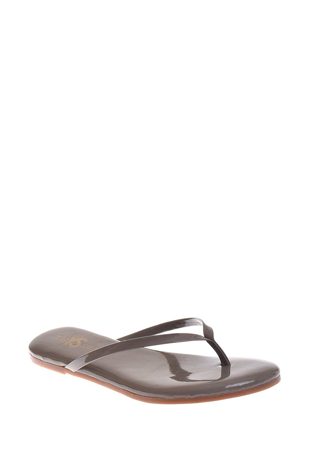 52c9d24be1714 Yosi Samra Patent Flip Flop Sandal - Taupe    Be sure to check out this