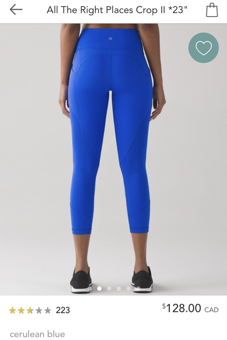 368aa59d8bff7 Lululemon All the Right Places Crop II | Cerulean Blue | size 6 ...