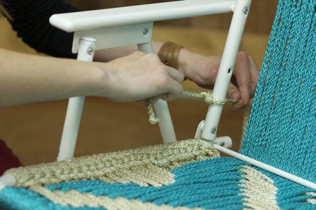 How To Make A Macrame Lawn Chair Macrame patterns Macram and Lawn