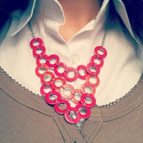 Collana di Rondelle di ferro colorate con lo smalto #accessories #necklace #DIY