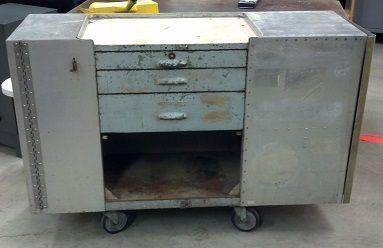 Custom metal cabinet on wheels. SOLD !!