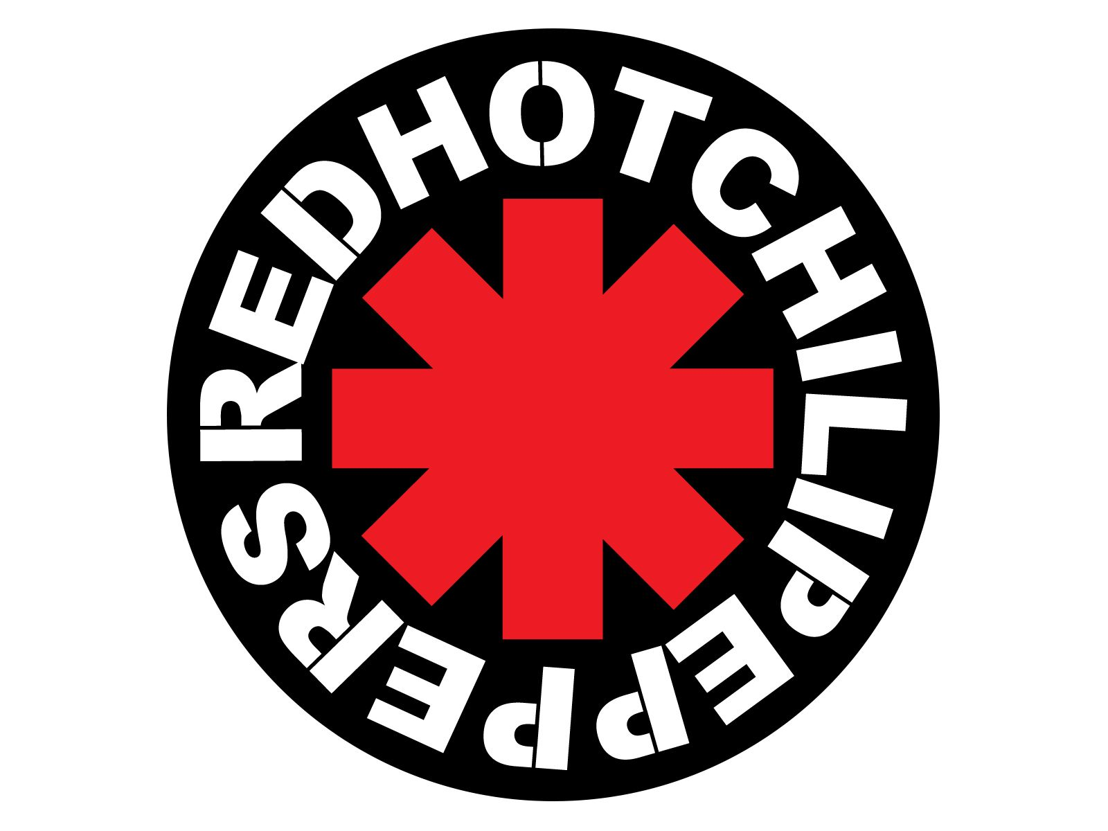Vinyl Sticker Decal Red Hot Chili Peppers full colour band logo