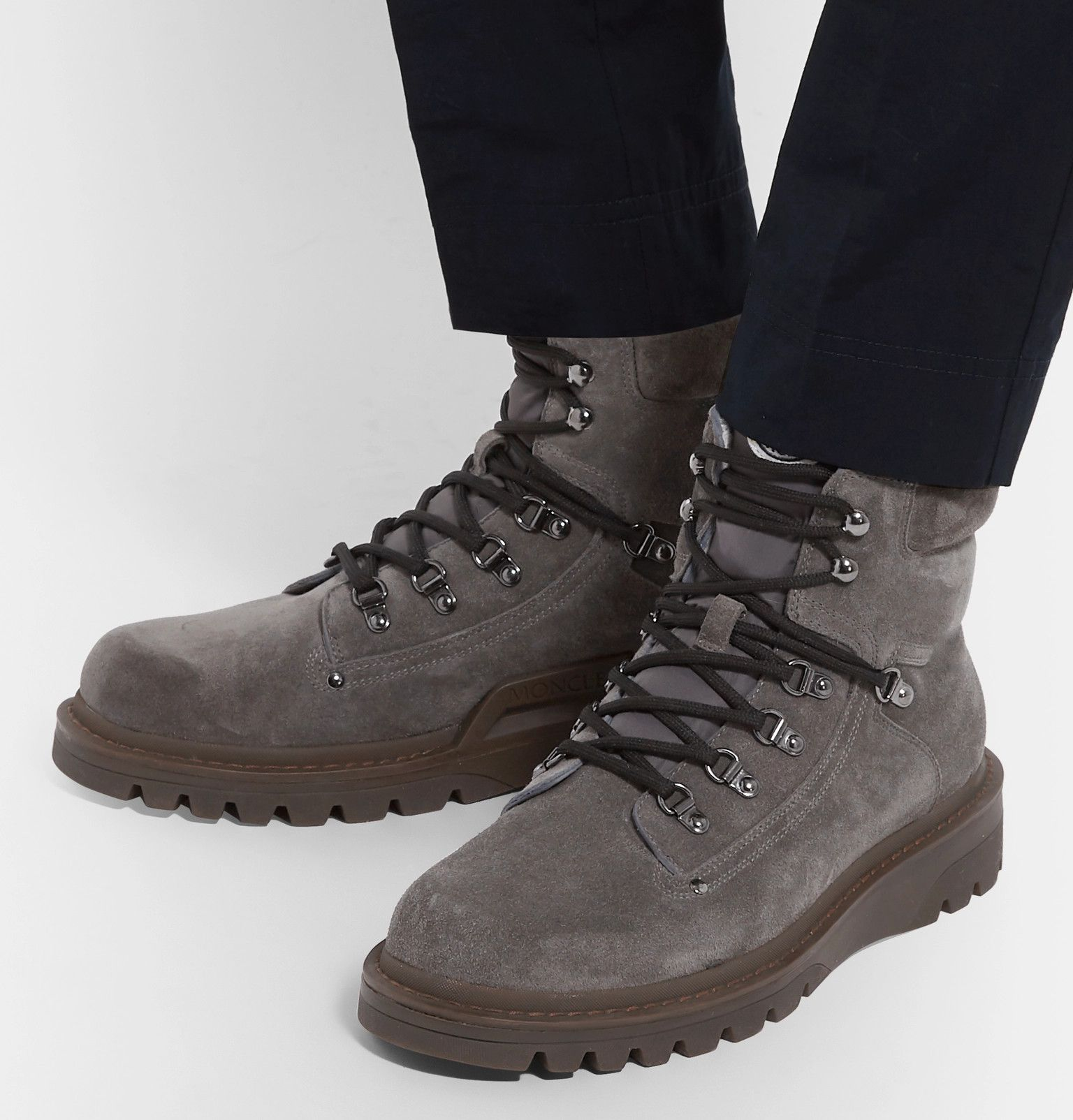 0b1b526b6b4a Moncler - Egide Shearling-Lined Suede Walking Boots