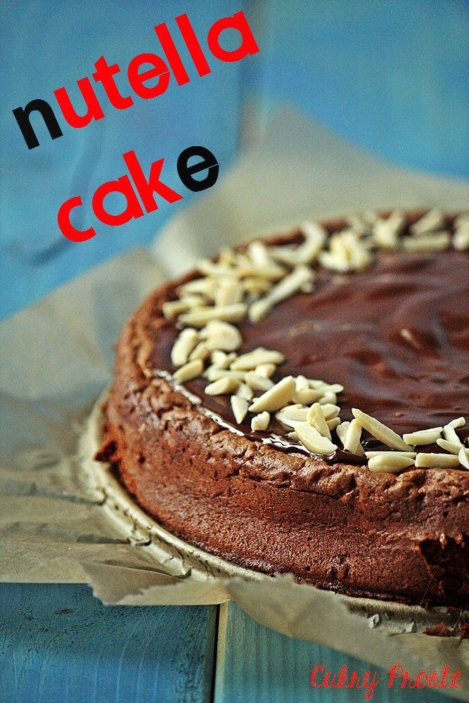 Cukry Proste: Torta alla gianduia - najlepsze ciasto z Nutellą