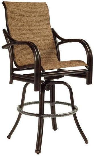 Nice High Back Sling Swivel Bar Stool At Michael Alan Furniture