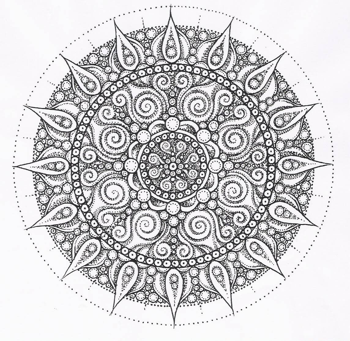 Center Yourself with Mandalas Coloring Pages  Mandala Mandalas