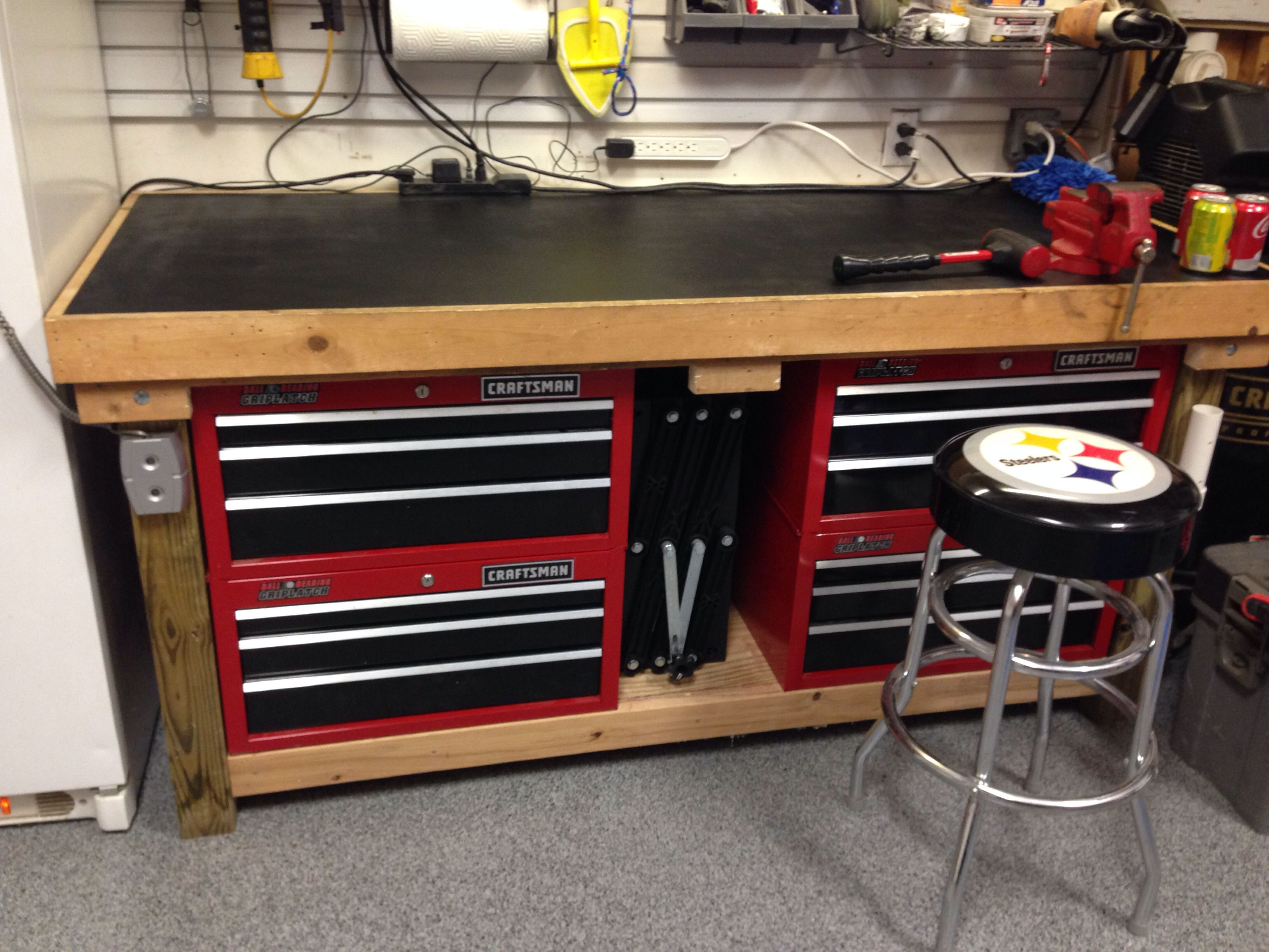 Upgraded workbench. Do you have the garage workbench that