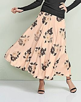 aa5f9630b4 Foil Print Floral Maxi Skirt | Fashion World | Printed maxi skirts ...