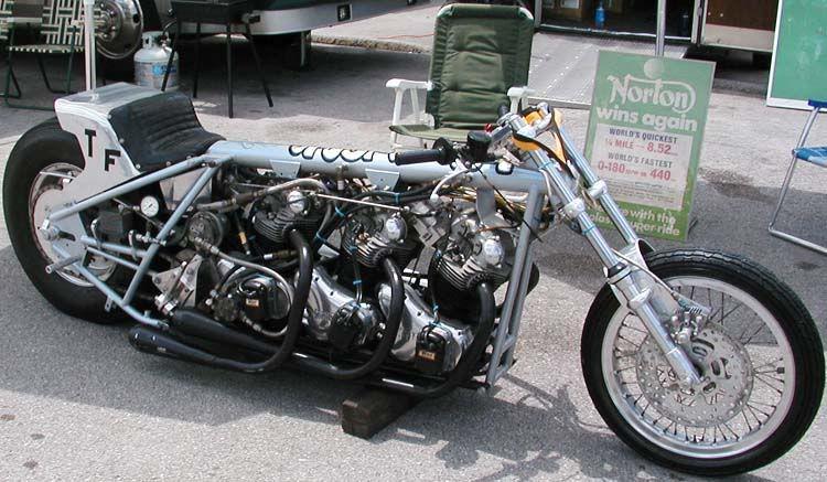 Triple Norton S On Nitro Drag Bike Racing Bikes Bike