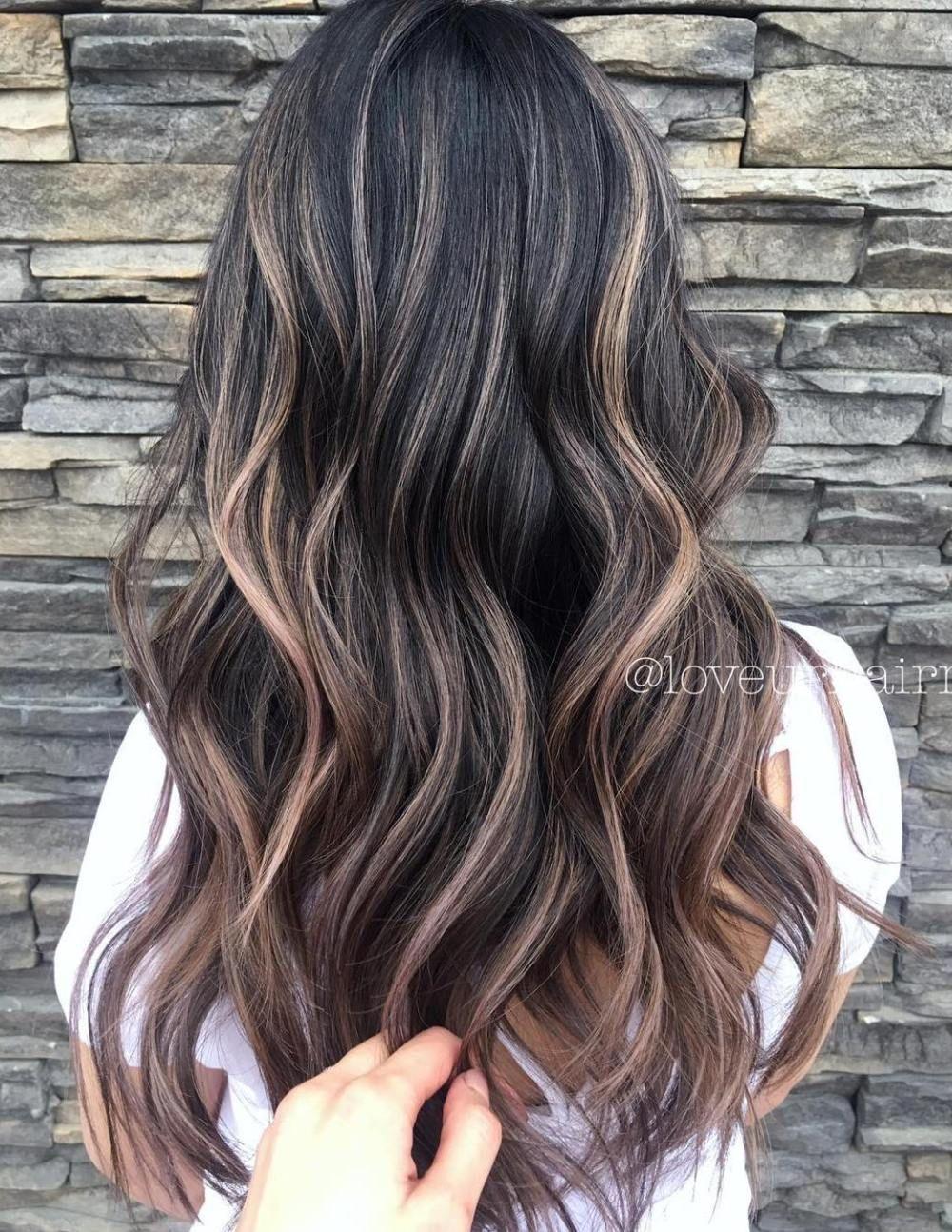 40+ Sun kissed balayage on dark brown hair trends