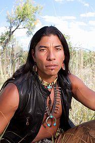 Handsome native american man