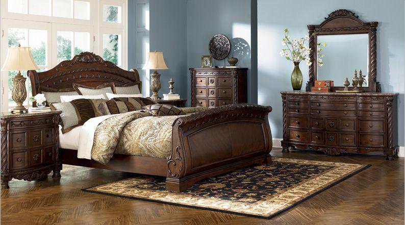 غرفة نوم مصنعة من الخشب الفاخر #bedroom #wood #brown #nice