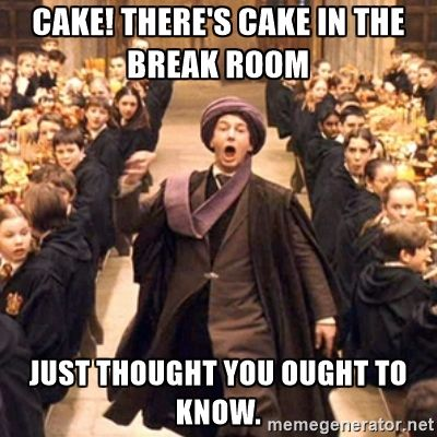 Professor Quirrell Cake There S Cake In The Break Room Just Thought You Ought To Know Harry Potter Films Harry Potter Feast Harry Potter Movies