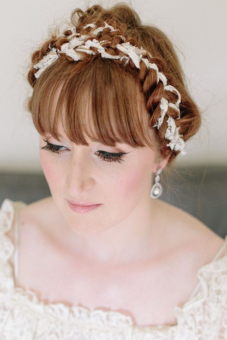 wedding hairstyles for long hair with a fringe, wedding hair