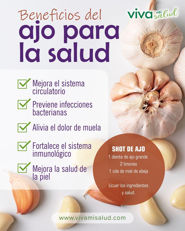 20 Ideas De Ajo Beneficios Beneficios De Alimentos Recetas Para La Salud Beneficios Del Ajo