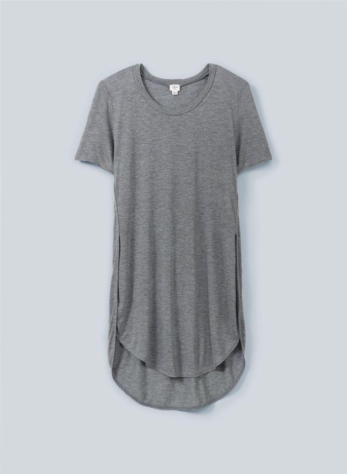 be2f4bc17d5fd Aritzia Wilfred CAPUCINE t shirt size XS small gray tulip split side ...