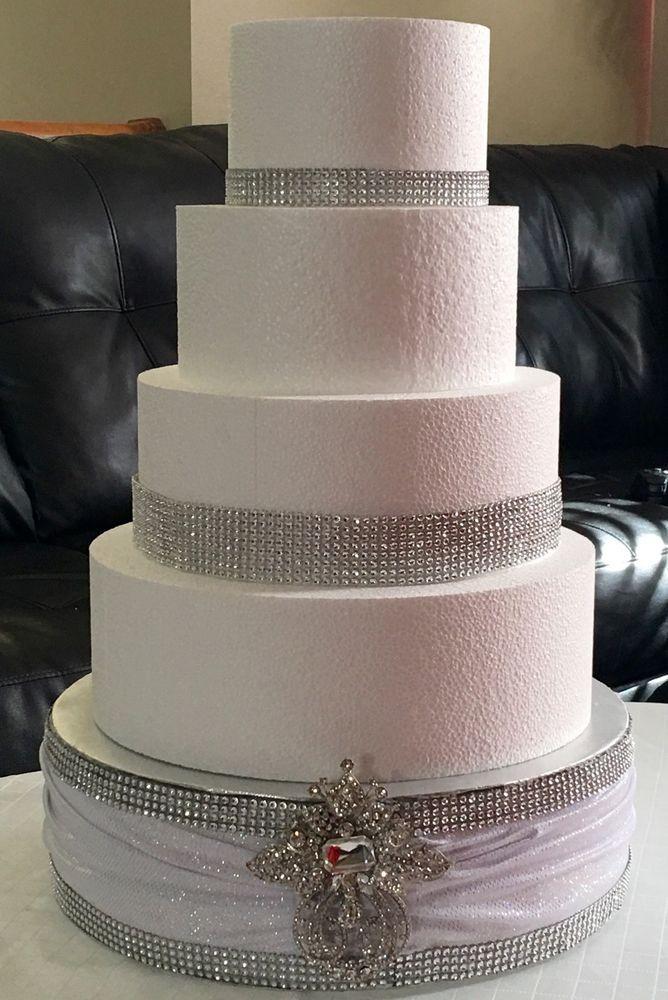 Round 14 Wedding Cake Stand Rhinestone Mesh 5x 4 5