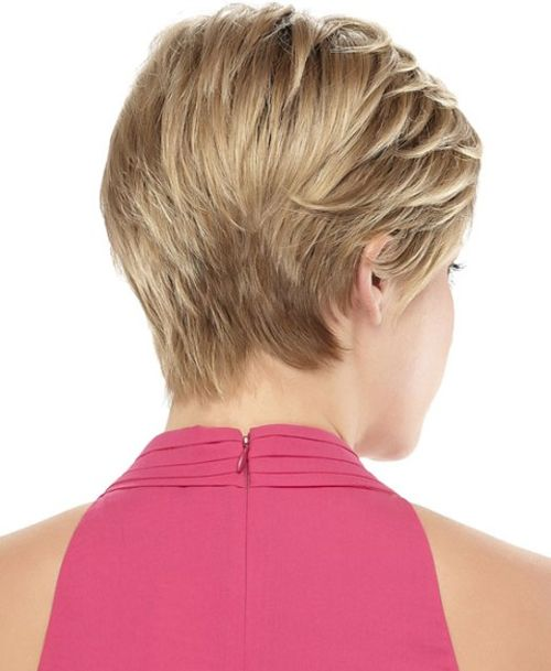 Pretty Back View Of Short Haircuts For Thin Hair Full Dose Hairstyles For Thin Hair Hair Styles Short Thin Hair