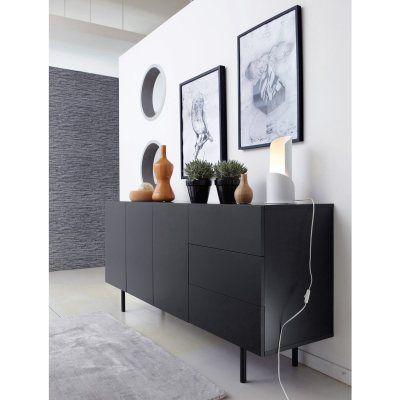Buffet enfilade design, 3 portes, 3 tiroirs Joan La Redoute Mobile - decoration portes d interieur