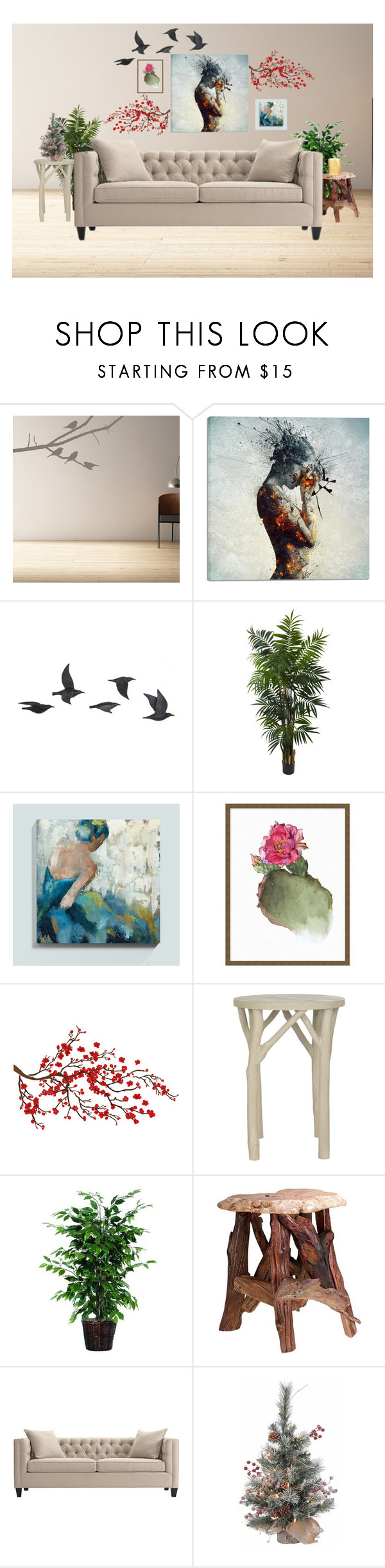 """""""Untitled #16"""" by onikaa ❤ liked on Polyvore featuring interior, interiors, interior design, home, home decor, interior decorating, Cortesi Home, Jayson Home, Nearly Natural and Ballard Designs"""