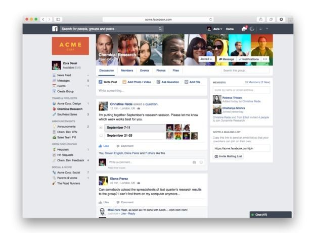 Facebook Set to Launch \u0027Facebook at Work\u0027 Next Month