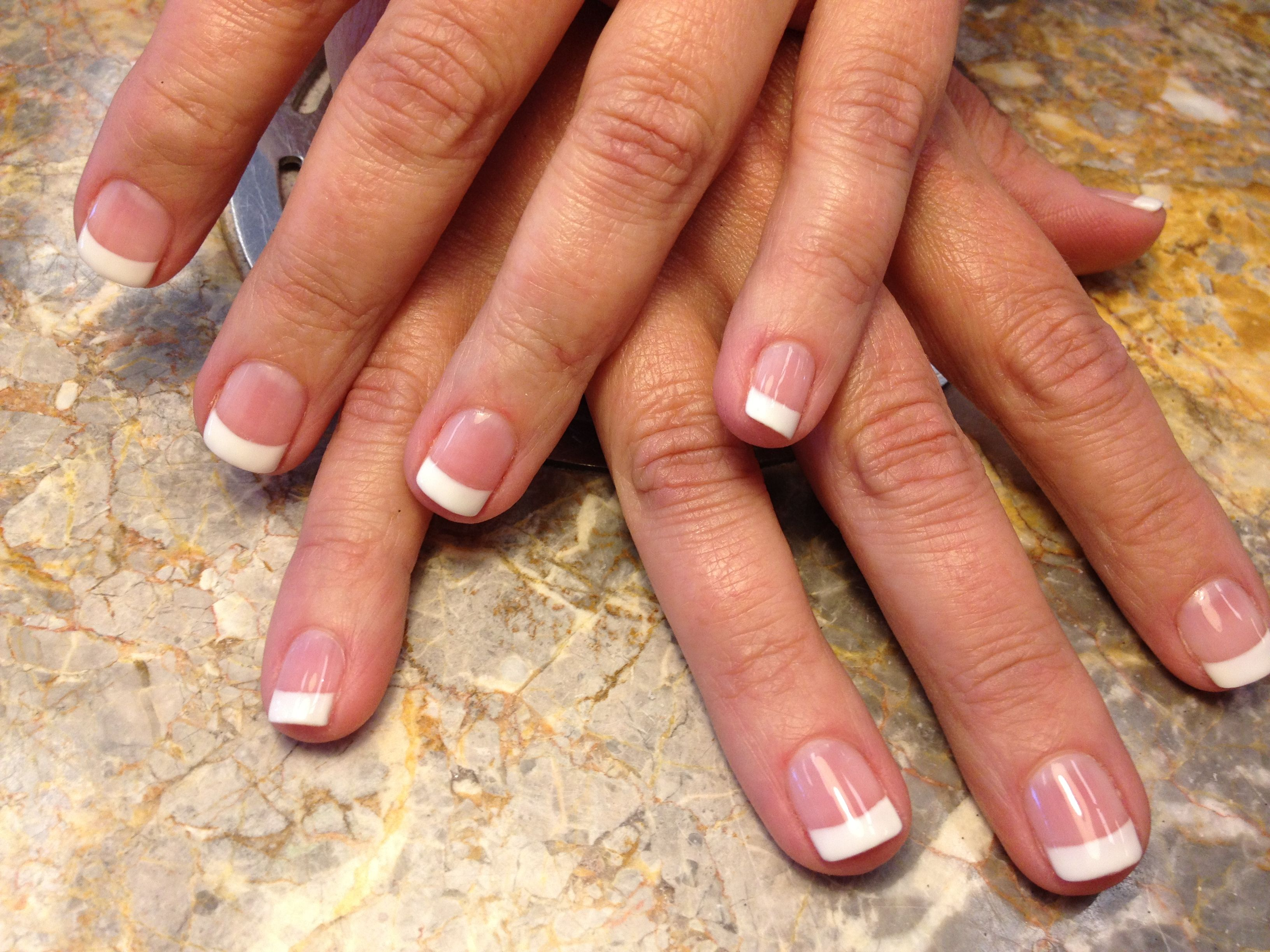 French Gel Mani On Natural Nails Nail Spa Natural Nails Gel Mani