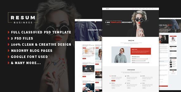 ResumPortfolioResume One Page Psd Template  Creative Cv Psd