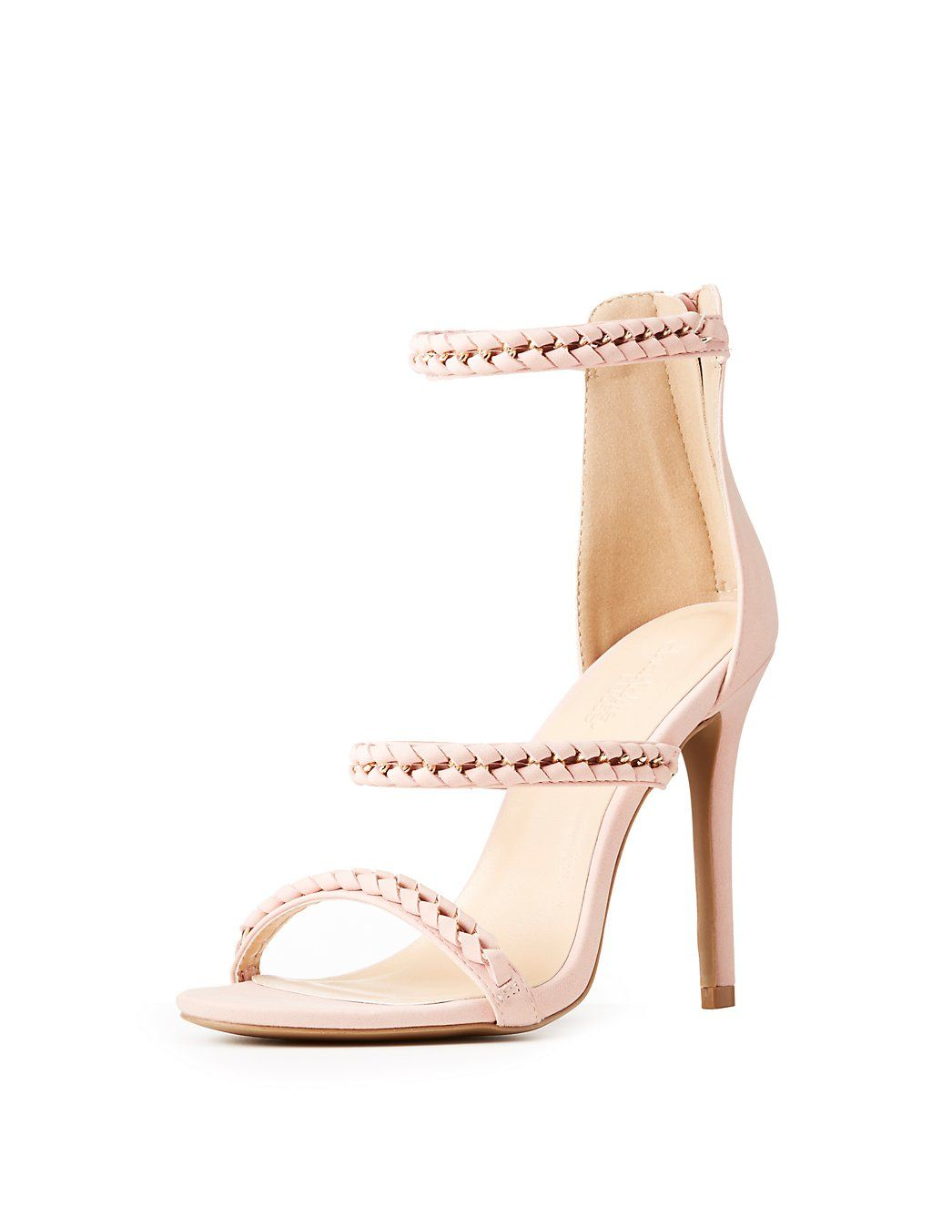 ec185858053 Chain Braided Ankle Strap Dress Sandals