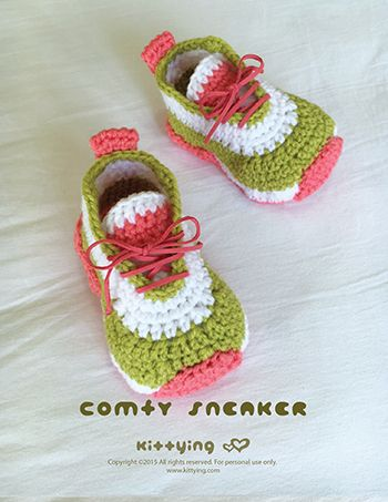 Comfy Baby Sneakers Crochet Pattern by Crochet Pattern Kittying from ...