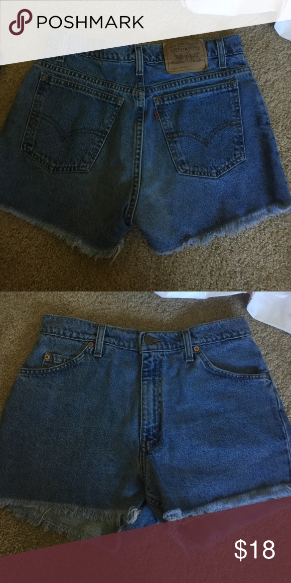 Vintage high waist frayed Jean shorts Size 13. No flaws. Urban Outfitters Shorts Jean Shorts