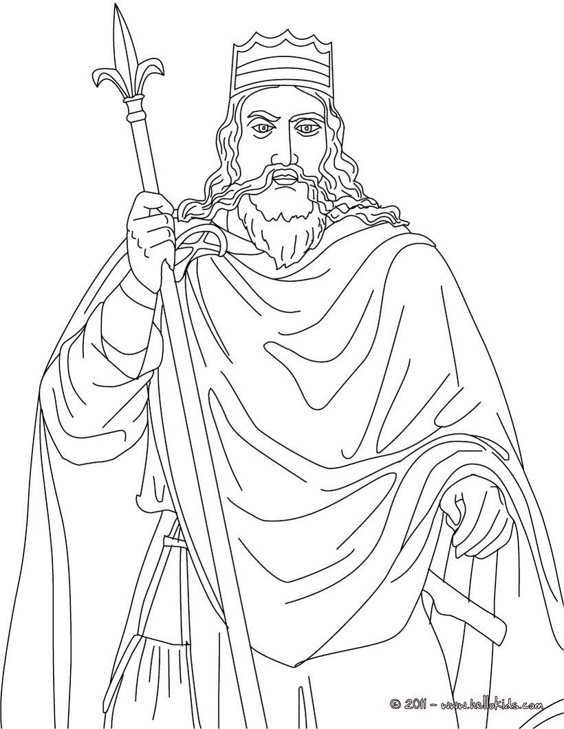 French Kings And Queens Coloring Pages King Clovis Coloring Pages People Coloring Pages Color