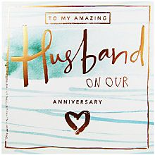 Buy Cardmix Husband Anniversary Card Online At Johnlewis Com Anniversary Cards For Husband Husband Birthday Card Anniversary Cards
