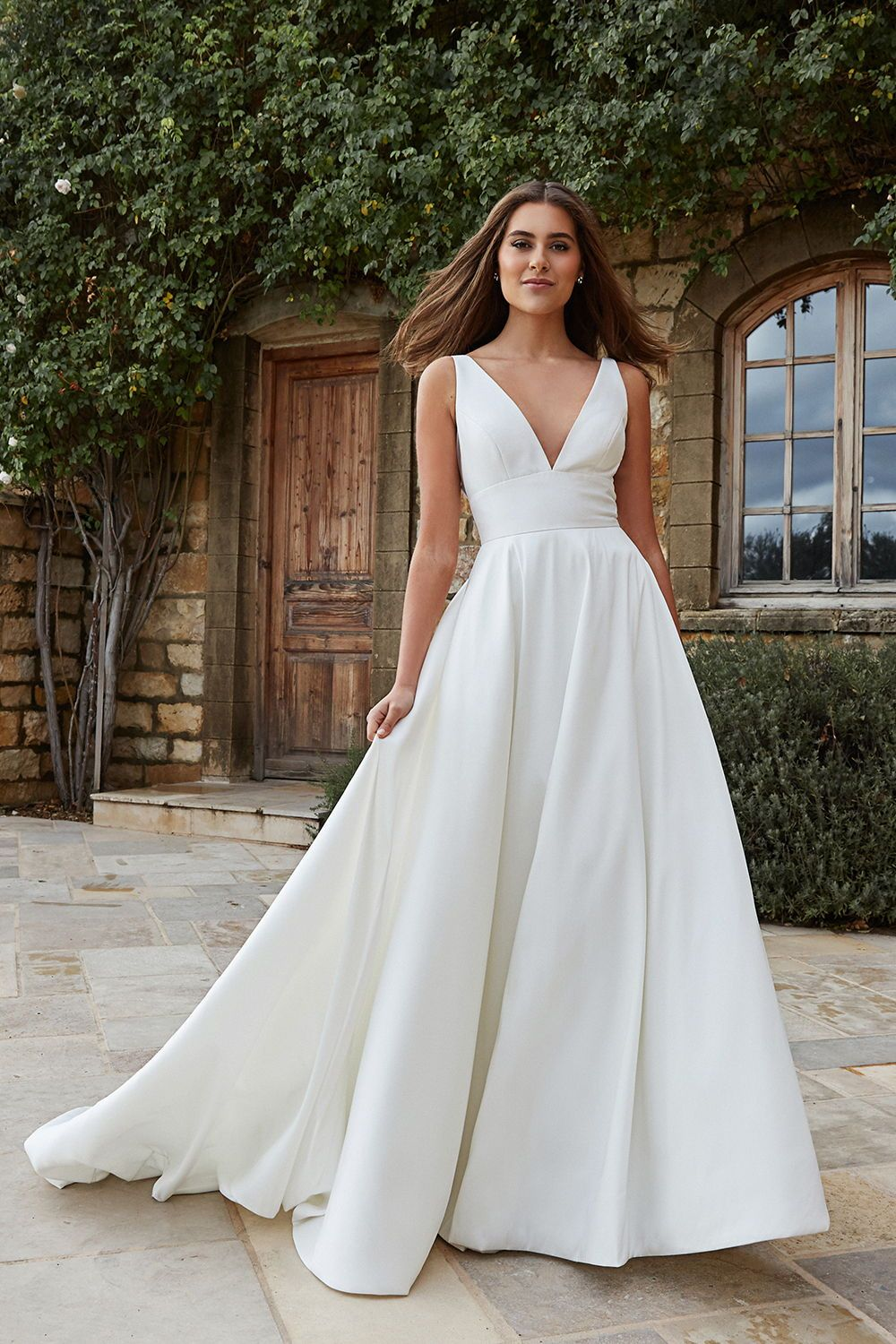 Jenny By Jenny Yoo Channing In 2020 Asymmetrical Wedding Dress Wedding Dresses Near Me Cold Shoulder Wedding Dress
