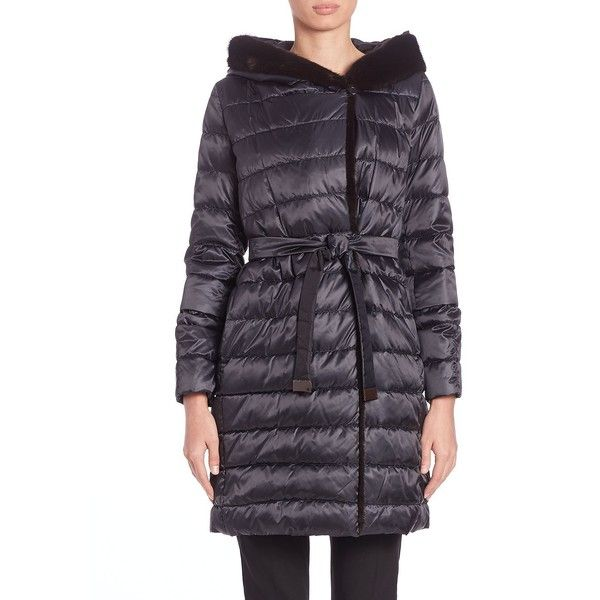 Max Mara Cube Collection Mink Fur-Trim Quilted Jacket ($3,290 ... : max mara quilted jacket - Adamdwight.com