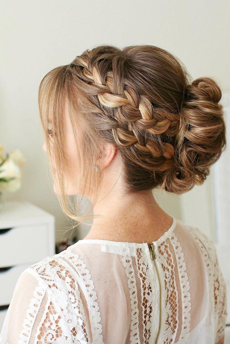8 halo braid hairstyles that look fresh and elegant. it