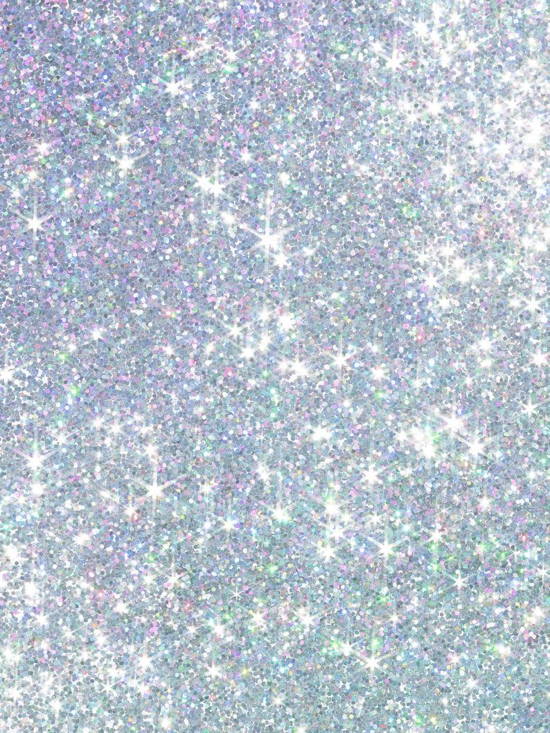 Blue Sparkle Photography Backdrops Birthday Party Glitter Bokeh Photo Background Vinyl Shiny Photo B