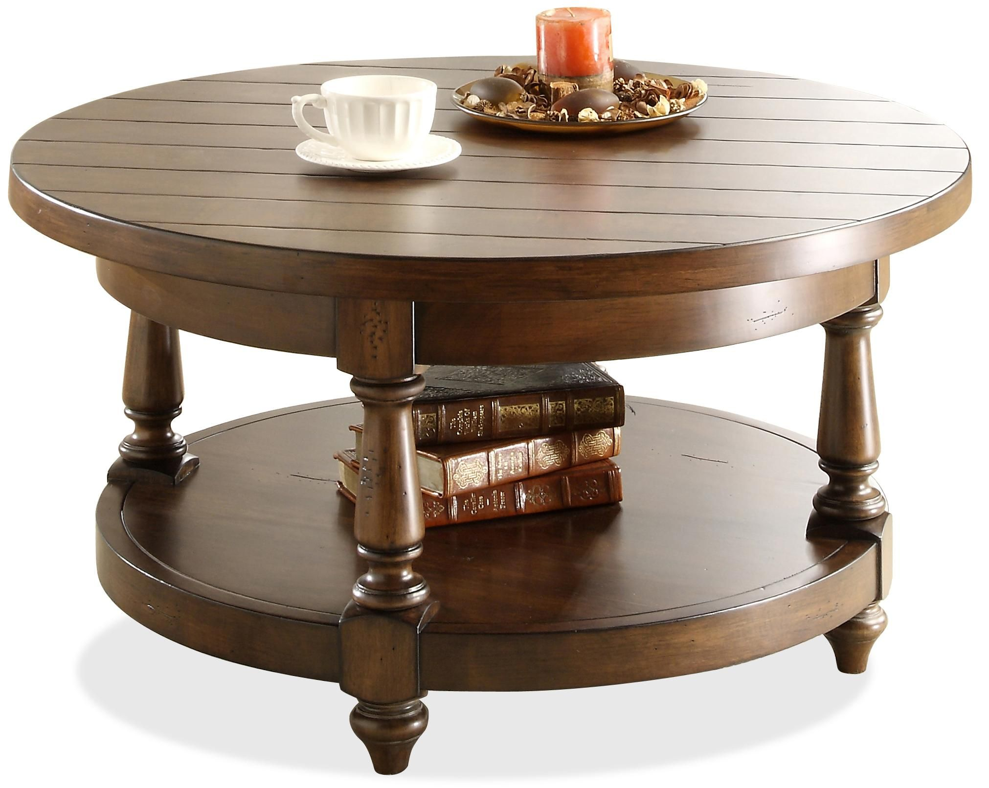 Newburgh Round Cocktail Table By Riverside Furniture Coffee Table Round Coffee Table Riverside Furniture [ 1611 x 2022 Pixel ]