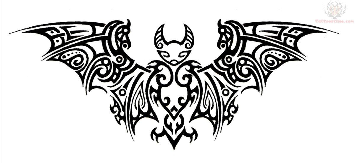 Classic Black Tribal Vampire Tattoo Stencil Bats Tattoo Design Bat Tattoo Bat Art