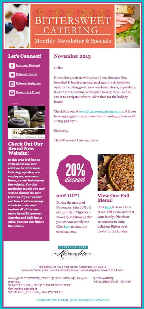 The MailChimp template created for Alexandria, VA's very own ...