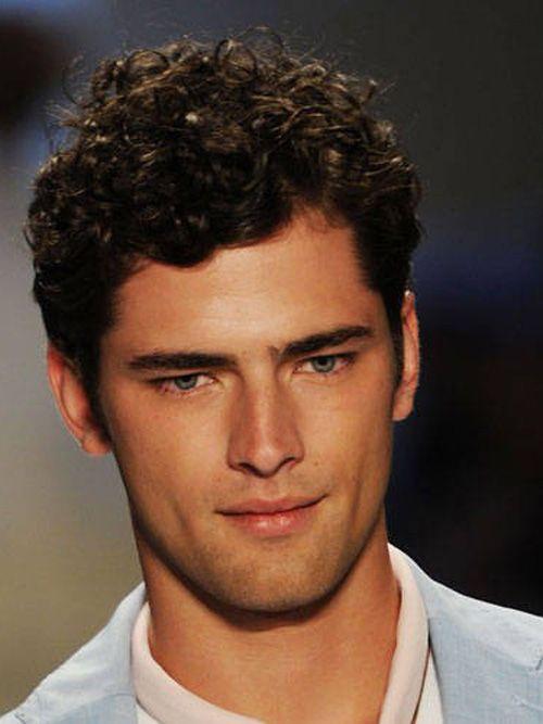 Men S Short Curly Dark Brown Full Lace 100 Human Hair Wig 219 99